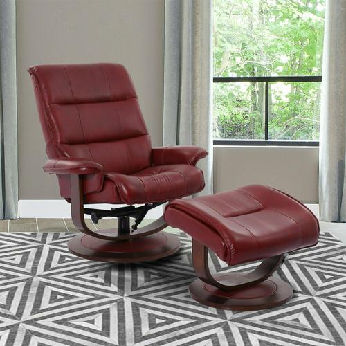 Product Image - KNIGHT - ROUGE Manual Reclining Swivel Chair and Ottoman