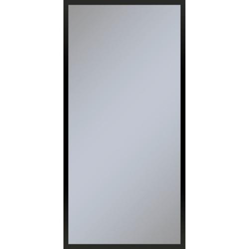 """Profiles 19-1/4"""" X 39-3/8"""" X 4"""" Framed Cabinet In Matte Black With Electrical Outlet, Usb Charging Ports, Magnetic Storage Strip and Left Hinge"""