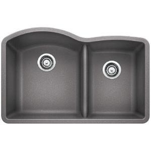 Diamond 1-3/4 Bowl With Low Divide - Metallic Gray