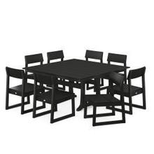 View Product - EDGE 9-Piece Farmhouse Trestle Dining Set in Black