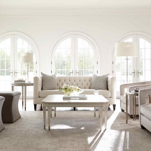 Bernhardt - Allure Round Chairside Table in Silver Mist (399)