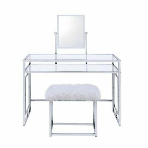 ACME Carenze II Vanity Set - 90314 - White & Chrome