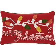 "Home for the Holiday St013 Multicolor 12"" X 20"" Throw Pillow"