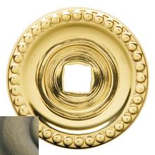 View Product - Satin Brass and Black Knob Back Plate
