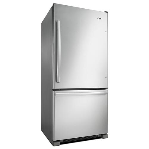 29-inch Wide Bottom-Freezer Refrigerator with EasyFreezer Pull-Out Drawer -- 18 cu. ft. Capacity Stainless Steel