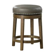Round Swivel Counter Height Stool, Gray