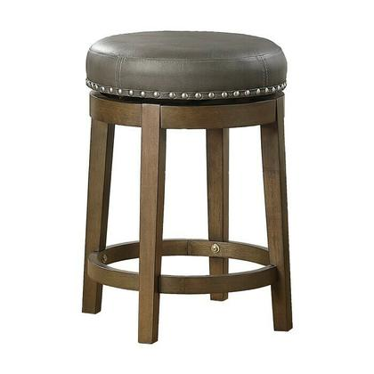 See Details - Round Swivel Counter Height Stool, Gray