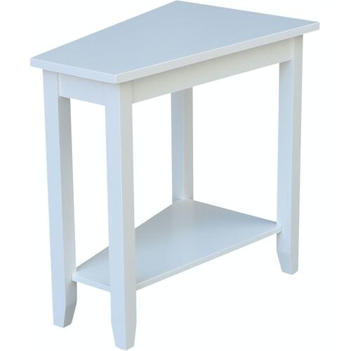 Keystone Accent Table in Pure White