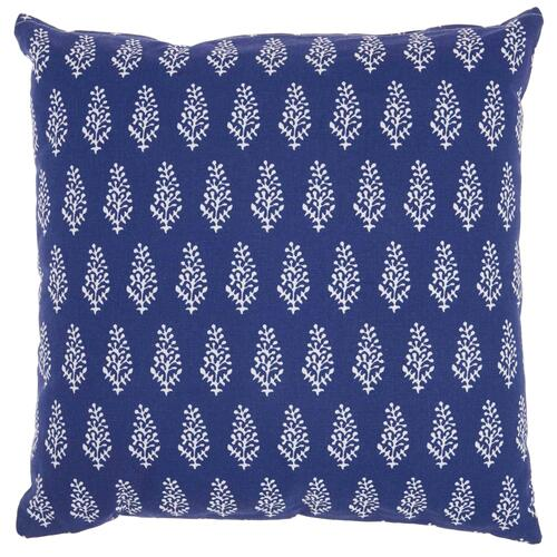 "Life Styles Ss910 Navy 18"" X 18"" Throw Pillow"