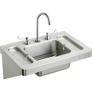 """Elkay Stainless Steel 28"""" x 20"""" x 7-1/2"""", Wall Hung Lavatory Sink Kit Product Image"""