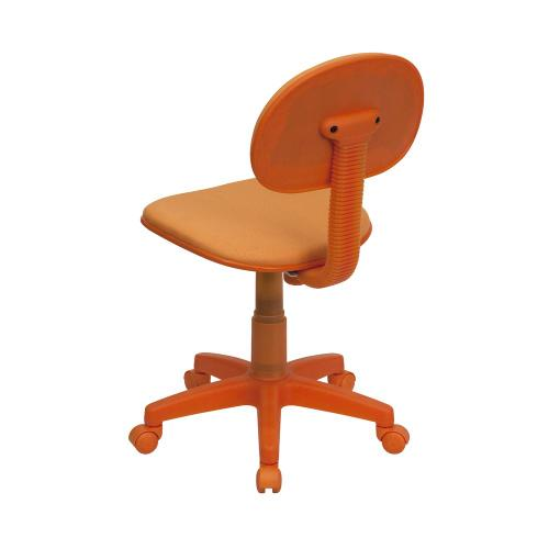 Orange Fabric Swivel Task Chair