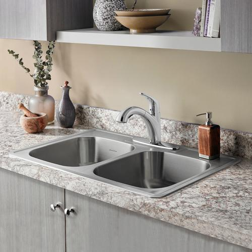 Quince 1-Handle Pull-Out Kitchen Faucet - 1.5 GPM  American Standard - Stainless Steel