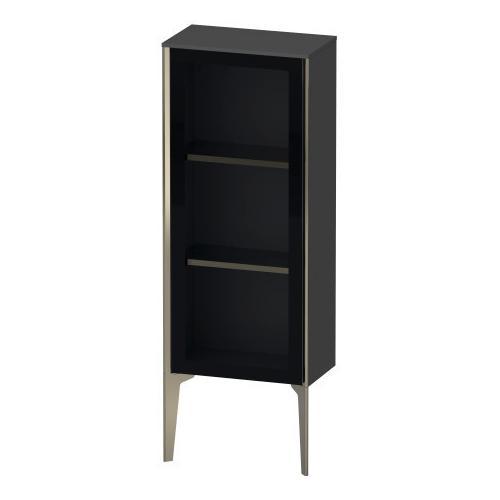 Semi-tall Cabinet With Mirror Door Floorstanding, Graphite Matte (decor)
