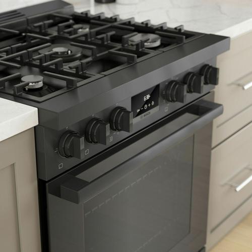 Gallery - 800 Series Dual Fuel Freestanding Range 30'' Black Stainless Steel HDS8045U