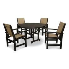 Black & Burlap Coastal 5-Piece Dining Set