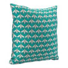 See Details - Bees Verdigrin Pillow Green