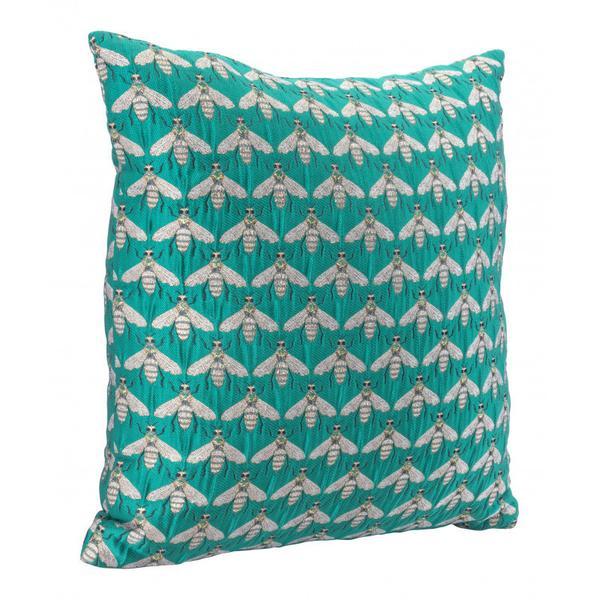 Bees Verdigrin Pillow Green