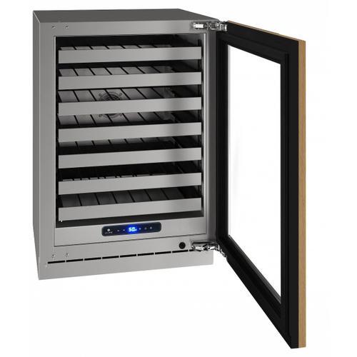 "U-Line - Hwc524 24"" Wine Refrigerator With Integrated Frame Finish and Field Reversible Door Swing (115 V/60 Hz Volts /60 Hz Hz)"