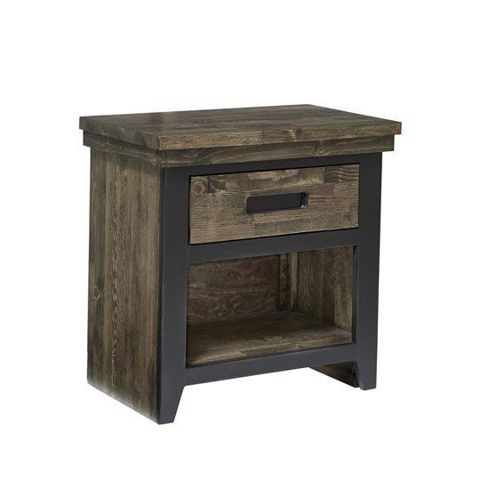 Nightstand - Honey \u0026 Black Finish