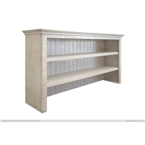 Hutch for Console, Ivory finish