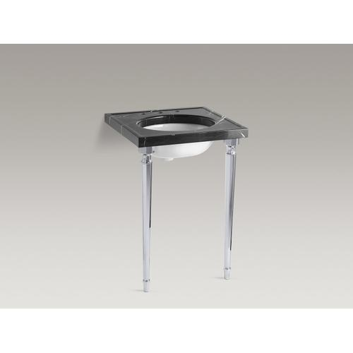 Polished Chrome Octagonal Tapered Brass Table Legs