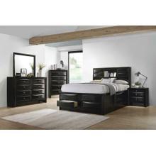 Briana Transitional Black Eastern King Five-piece Bedroom Set
