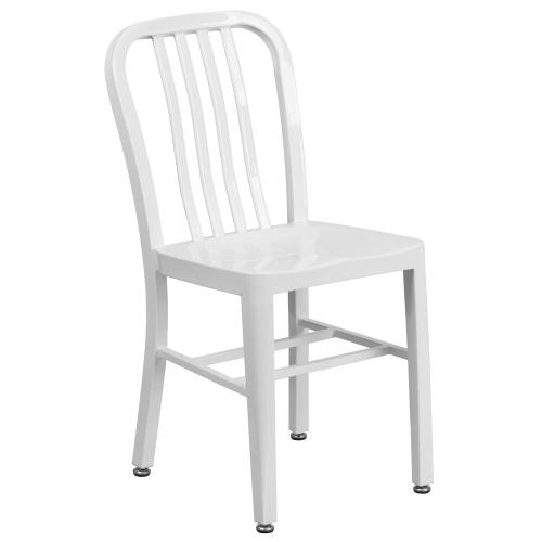 White Metal Indoor-Outdoor Chair