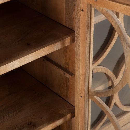 "San Rafael 75"" Glass Cabinet Antique Oak"