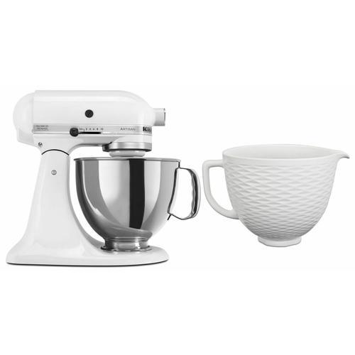 Gallery - Exclusive Artisan® Series Stand Mixer & Ceramic Bowl Set - White