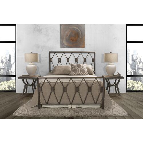 Tripoli Queen Bed Set Without Rails (black Pewter)