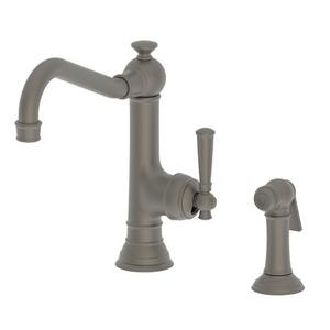 Weathered Brass Single Handle Kitchen Faucet with Side Spray