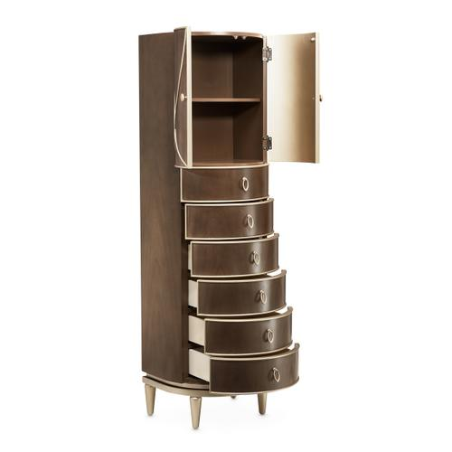 Swivel Chiffonier Lingerie Chest Living Room Storage Cabinet