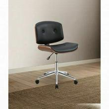 ACME Camila Office Chair - 92418 - Black PU & Walnut
