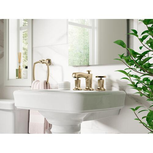 Kohler - Vibrant French Gold Widespread Bathroom Sink Faucet With Cross Handles