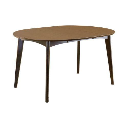 Coaster - Malone Mid-century Modern Dark Walnut Dining Table