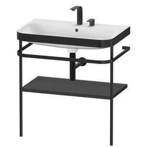 Furniture Washbasin C-bonded With Metal Console Floorstanding, Graphite Super Matte
