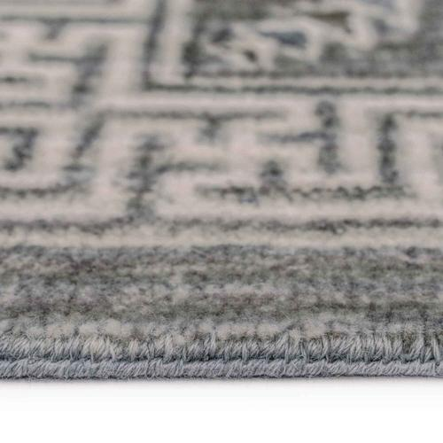 """Capel Rugs - Siam-Tile Lt. Grey - Rectangle - 3'6"""" x 5'6"""""""