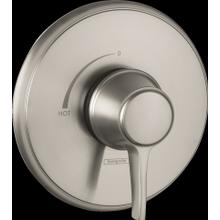Brushed Nickel Pressure Balance Trim, Round
