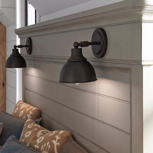 Lighted Double Sconce Queen Headboard