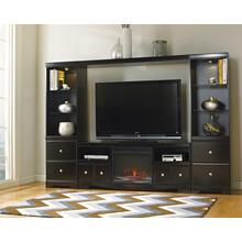 Shay 4-piece Entertainment Wall Unit With Electric Fireplace