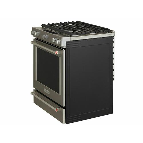 KitchenAid Canada - 30-Inch 5 Burner Front Control Gas Convection Range with Baking Drawer - Stainless Steel