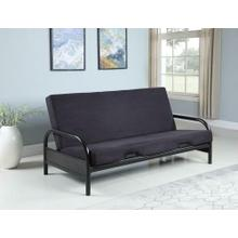 Casual Black Futon Frame and Futon Pad. Futon Pad available in different colors.