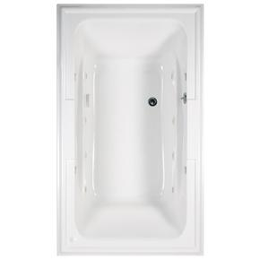Town Square 72x42 inch EcoSilent Whirlpool Tub - Arctic White