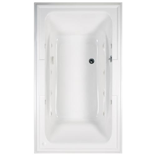 American Standard - Town Square 72x42 inch EcoSilent Whirlpool Tub - Arctic White