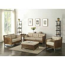 ACME Andria Sofa - 53450 - Beige Linen & Reclaimed Oak