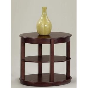 Oval End Table - Medium Ash Finish