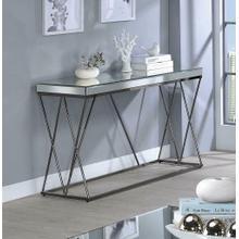 Contemporary Black Nickel Sofa Table
