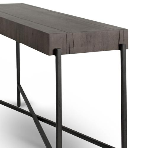 Distressed Grey Finish Tinsley Rectangle Console Table