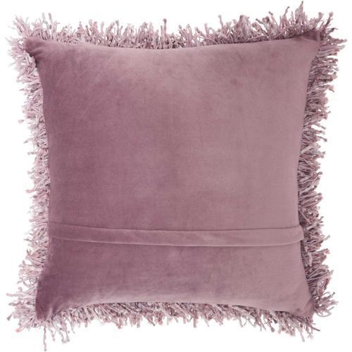 """Shag Tl050 Lavender 20"""" X 20"""" Throw Pillow"""