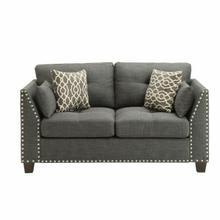 ACME Laurissa Loveseat w/4 Pillows - 52406 - Light Charcoal Linen